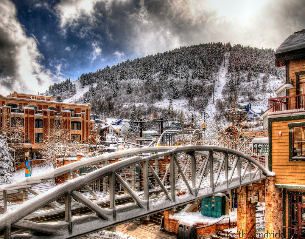 Winter City Landscape, Park City, Utah